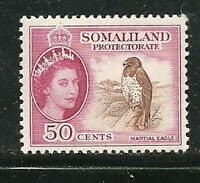 Album Treasures Somilaland  Scott # 134 Elizabeth Martial Eagle MLH