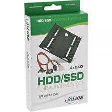 """InLine® HDD-/SSD-Einbaurahmen SET, 2,5"""" auf 3,5"""" Rahmen, SATA Kabel"""