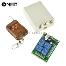 Dc 12V 4 Channel Remote Controller Switch Rf Receiver & Transmitter Relay Module