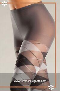 Sexy-Grey-Argyle-High-Waist-Elegante-Pantyhose