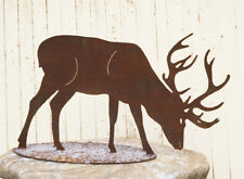 Hirsch fressend 50x90cm Reh Edelrost Metall Tier Rost Figur Elch Garten Deko