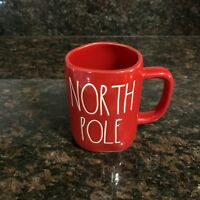 Rae Dunn Christmas NORTH POLE Large Letter Farmhouse Red Holiday Mug By Magenta