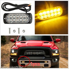 1× Car 12LED Ultra Slim Flashing Strobe Warning Lights Fog Lamp Surface Mounting