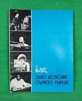 Vintage ARP 3620 Keyboard Owners Manual