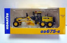 Komatsu Official Diecast Model Motor Grader GD675-6 / 1:87 / Japan Exclusive