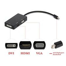 3in1 Mini Display Port DP Thunderbolt to DVI VGA HDMI Adapter for MacBook Pro YO