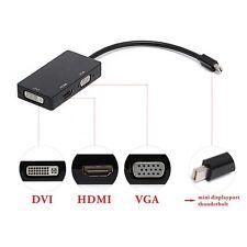 3in1 Mini Display Port DP Thunderbolt to DVI VGA HDMI Adapter for MacBook Pro Jʌ