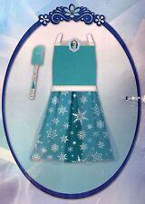 Disney Frozen 2pc APRON Baking Princess Elsa Blue Dress Up Play Set with Spatula