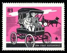 """USA Poster Stamp - Jewel Food Stores """"History of Chicagoland"""" #89 - 1st Auto"""