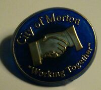 City Of Morton Lapel Pin - Vintage WA MN IL MS American USA City Souvenir Badge
