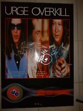 Urge Overkill Signed Promotional Poster for Exit the Dragon Album