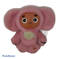 "Vintage plush 6"" rubber Pink anime Mouse VINYL FACE myabtn Russia ncheburashka"