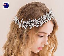 Women Party dance Pearl Wedding Bride Melbourne Cup Hair Headband Headpiece