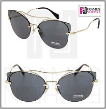 5e01086aeb82 MIU MIU SCENIQUE Butterfly 52S Gold Black Mirrored Oversized Sunglasses  MU52SS