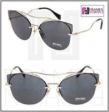 88e0faccf76b MIU MIU SCENIQUE Butterfly 52S Gold Black Mirrored Oversized Sunglasses  MU52SS