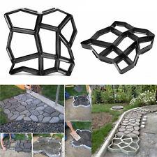 1x DIY Random Stone Plastic Molds Concrete Stepping Stones Paver Garden Pathway