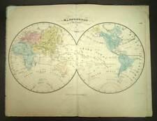 ATLAS GEOGRAPHIQUE DRESSE POUR L'USAGE DES COLLEGES par H.SELVES carte de 1843