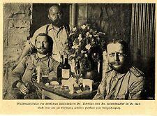 De AAR sudáfrica militares alemanes médicos Dr. Schmidt, entre Dr. Krummacher * bildd. 1900