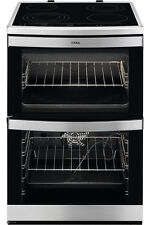 AEG 49176V-MN 60cm Touch Control Double Oven Electric Ceramic Cooker S/Steel