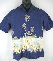 Winnie Fashion Aloha Shirt Extra Large XL Made in Hawaii 100% Cotton Purple