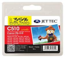Jet Tec PG510 Cartucho De Tinta Negro Compatible con Impresoras Canon Remanufactured