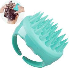 Shampoo Brush Hair Scalp Massager Silicone Scrubber Comb Soft - Green