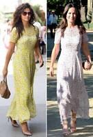 Sold Out New LK Bennett Karo Print Yellow Silk Dress UK 6 8 10 12 14 PRP: £325