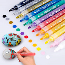 Acrylic Paint Marker Pens, Morfone Set of 12 Colors Markers Water Based Paint