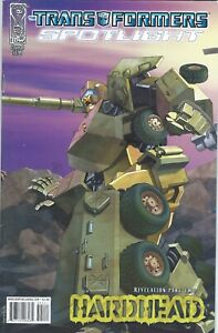 IDW Comics 2008 Transformers Spotlight HARDHEAD #1 E.J. Su VF Bag/Board