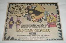 1981 cartoon ad ~ PAC MAN WATCHES