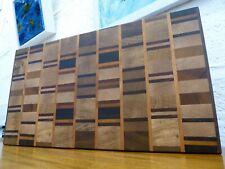 End Grain Cooking Chopping Board Butcher Block Hardwood, Handmade Reversible #11