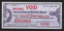 L4702  USA $100 US dollars TRAVELLERS CHEQUE American Express SPECIMEN