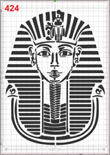 Tutankhamun Egyptian Pharaoh Stencil MYLAR A4 sheet strong reusable Art Craft