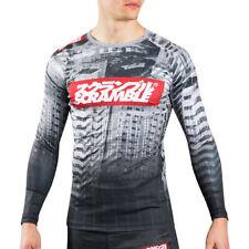 Scramble Toshi Long Sleeve MMA Rashguard - Black/White
