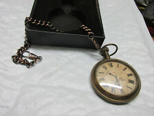 Tumpus Fugit pocket watch, with chain.