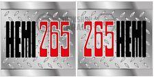 HEMI CHRYSLER VALIANT - Badge Style Stickers - HEMI 265 BONNET checkerplate  #9