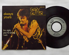 "Gary GLITTER Always yours/I'm right... FRENCH 7"" w/diff PS - BELL (1974) glam NM"