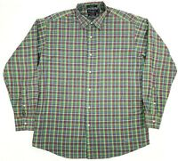 Daniel Cremieux Mens XL Classic Button Down Plaid Shirt Blue Green Multi
