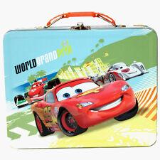 Disney Cars Lightning McQueen World Grand Prix Tin Metal LunchBox Lunch Box Bag