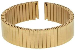 PUREgrey Zugband teilpoliert Edelstahl vergoldet Uhrenarmband Flexband 20 mm