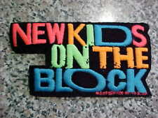 "1989 Nkotb Patch New Kids On The Block True Vintage Nos Colorful 5""X3"" Boy Band!"