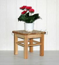 Massivholz Sitzhocker Kernbuche Kinderhocker Beistelltisch Blumen-hocker Holz