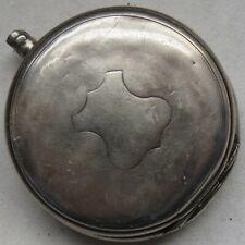Longines Pocket Watch silver hunter case glass bezel missing balance Ok.