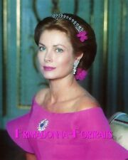 GRACE KELLY 8X10 Lab Color Photo 1950s Elegant Princess Actress Portrait