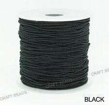 0.8mm Nylon Coated Round Elastic Cord Stretch Beading Mala String 75yards Spool