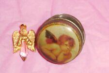 Vtg Angel Crystal Olit 1995 Usa with Gift Box Crystal Power