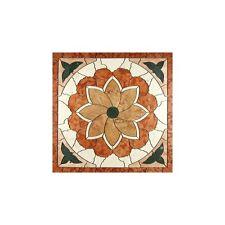 Rosoni rosone mosaico in marmo su rete per interni esterni 33x33  TULIPANO ROSSO