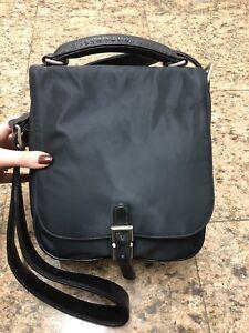 Johnny Farah Nylon/Leather Messenger Bag