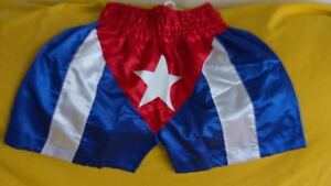 CUBA Flag Boxing Trunks Training Fitness Martial Arts MMA Grappling Boxing Short