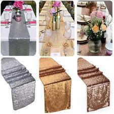 275 30cm Glitter Paillettes Runner da tavolo COPERTURA PANNO LUCCICANTE